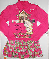 Платье-туника малиновое, трикотаж, Турция Размер 98-104-110