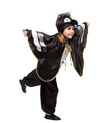 Карнавальний костюм Ворони для хлопчика весняний на свято Весни (4-9 років)