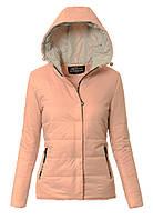 Женская стёганая весенняя демисезонная куртка с капюшоном