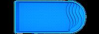 Чаша для бассейна Фаворит Версаль 8,0х3,8х1,7 серии Стандарт