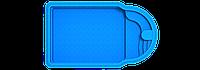 Композитный бассейн Мустанг 6,5х3,8х1,6 м серии Стандарт