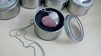 Флешка кулон, флешка 2 в 1- ювелирное украшение кулон + флеш память в виде сердца на16  гб.