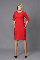 Праздничное женское платье р.46-54 красное V252-4