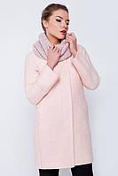 """Пальто весеннее """"Жасмин"""" букле розовое"""