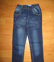 Весенние темно-синие джинсы для девочек на резинке из Венгрии 98,104,110,116,122,128р.