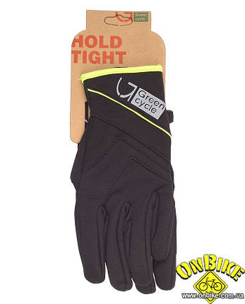 Перчатки Green Cycle NC-2576-2015 WindStop с закрытыми пальцами черные, фото 2