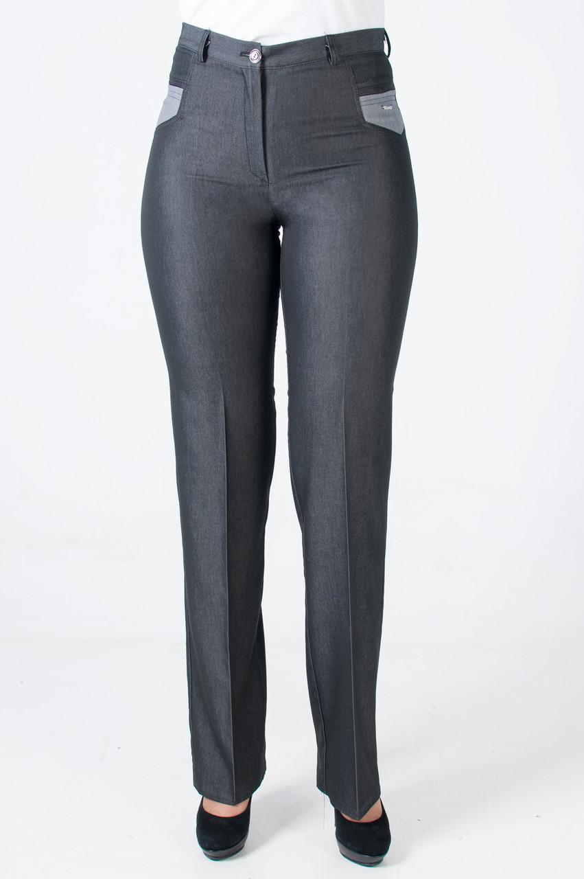 Женские летние брюки Венди темно-серого цвета