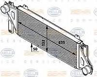 Радиатор интеркулера Mercedes w639 2003 > 8ML376746491 Behr Hella