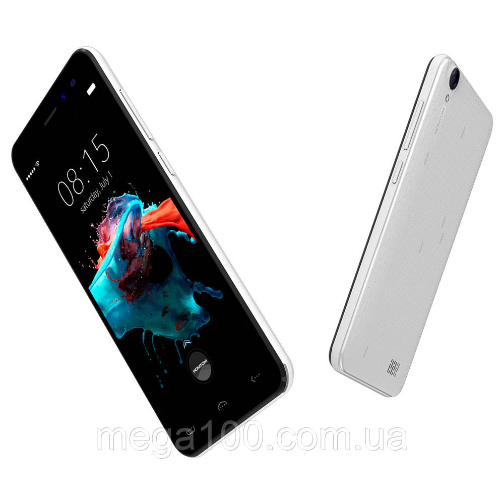 "Смартфон Homtom HT16 белый (""5, памяти 1 ГБ RAM 8 ГБ ROM Android 6.0, 3000 мАч)"