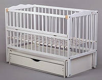 Кроватка для новорожденных Веселка тм Дубок с маятниковой качалкой