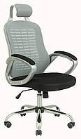 Кресло Тенерифе сиденье черное, спинка сетка серая (Richman ТМ)
