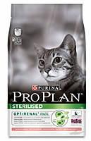 Сухой корм для кастрированных кошек Pro Plan (Про План) Sterilised Salmon (лосось) 10КГ