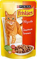 Консервы для кошек Friskies (Фрискас) с индейкой и печенью, 100 гр