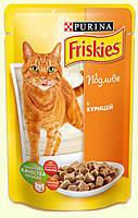 Консервы для кошек Friskies (Фрискас) с курицей в подливе, 100 гр