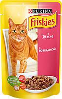 Консервы для кошек  Friskies (Фрискас) с говядиной, 100 г