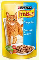 Консервы для кошек Friskies (Фрискас) с лососем и тунцом, 100 гр