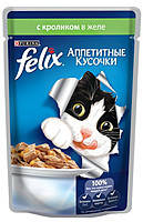 Консервы для кошек FELIX Fantastic (Феликс) с кроликом в желе, 100 гр