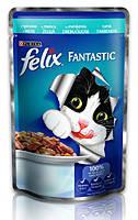 Консервы для кошек FELIX Fantastic (Феликс) с треской в желе, 100 гр
