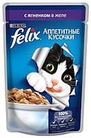 Консервы для кошек FELIX Fantastic (Феликс) с ягненком желе, 100 гр