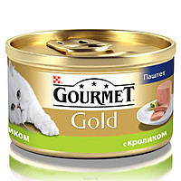 Консервы  для кошек из кролика GOURMET GOLD (паштет), 85 гр 12шт