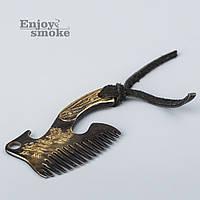 """Расческа для бороды """"Топор"""" (Enjoy Smoke) - латунь"""