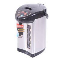 Электрический вакуумный металлический термос с помпой, термопот, SALIENT 5L, 750W