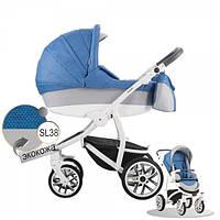 Коляска универсальная 2в1 Bebetto Torino S-line SL38 (синий) (503.26.16.SL38)