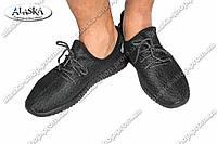 Мужские кроссовки черно-серые (Код: 108)