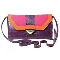 Сумочка - клатч Felice Bag через плечо яркая фиолетовая, код 10046