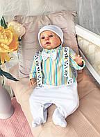 """Нарядный комплект  на выписку для новорожденного """"Стиляга"""""""