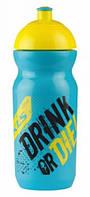 Фляга KLS GOBI RAW 0,5L голубой/желтый