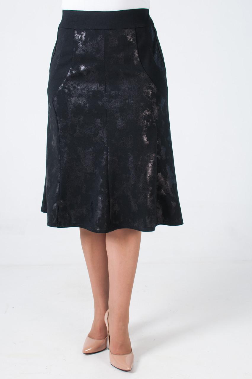 Женская трикотажная юбка годэ на резинке Мариша