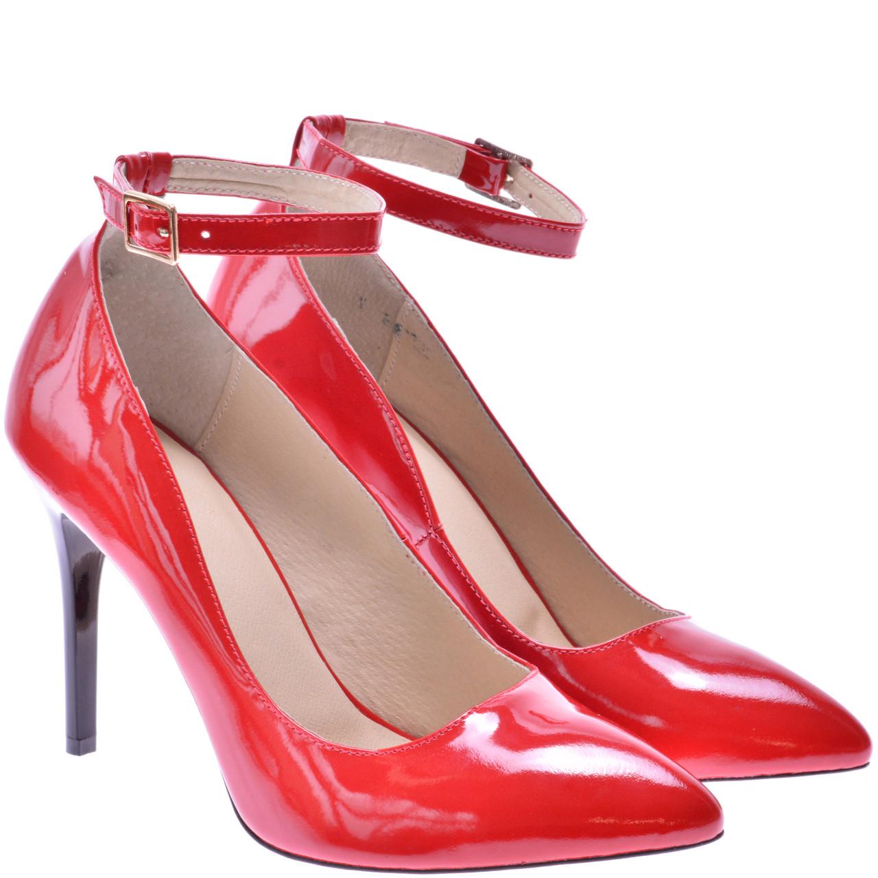 Туфлі Жіночі FS1001 Червоні Лакові — в Категории