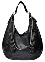 Удобная женская сумка из искусственной кожи черного цвета FFP-210559