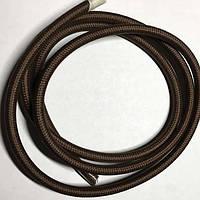 Провід в тканинній обплетенні (Factory) / Темно-оливково - коричневий