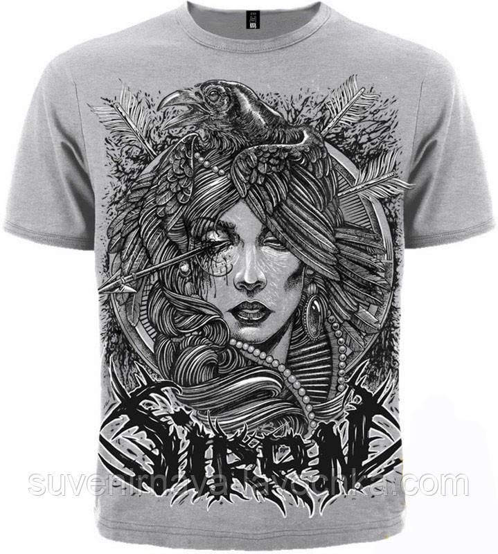 Рок футболка Siren (Crow)