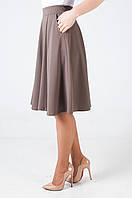 Женская юбка -полусолнце средней длины Мэлани бежевого цвета