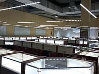 Верхний свет над ювелирными витринами VSL-32/skylight