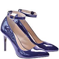 Туфлі жіночі  FS1001 сині лакові, фото 1