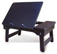 Столик для планшета и ноутбука с регулируемой высотой, ДСП, Венге темный
