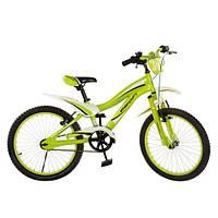 Велосипед PROFI детский 20 дюймов SX20-19-2 зелен,звонок,подножка, в кор-ке, 82-52-17см