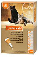 Bayer (Байер) Адвокат - для котов до 4кг, (за 1шт)