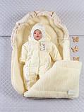 Конверт-мешок в детскую коляску, молочный, фото 2