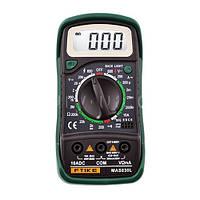 Мультиметр MAS830L цифровой, тест диодов, транзисторов, прозвонка, Led подсветка, питание крона 9В