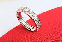 Серебряное кольцо Дорожка с Фианитами 925пробы