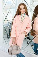 Пальто на девочку, Ткань кашемир,подкладка атлас, Спущенное плечо,манжет отворачивается. много цветов клав№260