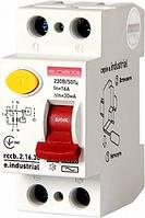 Выключатель дифференциального тока e.industrial.rccb.2.16.30, 2р, 16А, 30мА