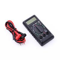 Мультиметр DT 182 цифровой, компактный размер, тест диодов, транзисторов, зуммер, щупы в комплекте