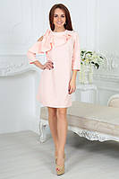Нарядное платье с оголенным плечом в нежно-розовом цвете 4051/2