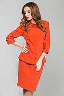 Рыжая теплая юбка